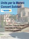 Cartell del concert solidari