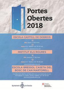Cartell de les jornades de portes obertes als centres educatius de Dosrius