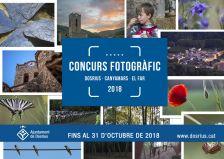 Cartell del Concurs Fotogràfic de Dosrius, Canyamars i El Far 2018
