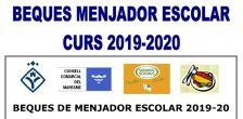 Beques de menjador escolar pel curs 2019-2020