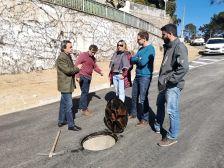 L'alcalde Marc Bosch i el regidor Joan Serra visiten l'estat de les obres