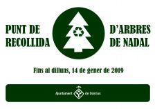 Cartell del servei especial de recollida d'avets de Nadal