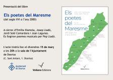Cartell de l'acte de presentació del llibre 'Els poetes del Maresme'