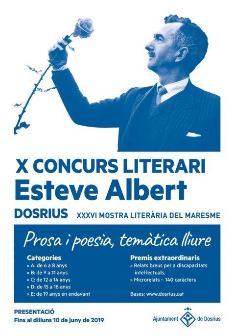 Fins al 10 de juny ja es poden presentar les candidatures al Concurs Literari Esteve Albert