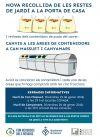 Cartell de la xerrada informativa sobre les àrees completes de contenidors de Can Massuet i Canyamars