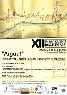 Cartell de la XII Trobada d'Entitats de Recerca Local i Comarcal del Maresme