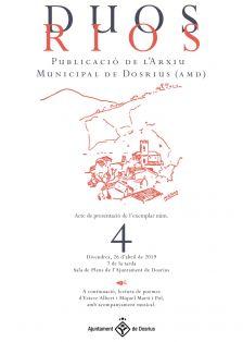 Cartell de l'acte de presentació del número 4 de la revista 'Duos Rios'
